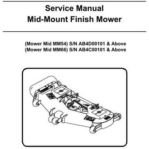 Bobcat Mid-Mount Finish Mower Service Manual - 6986907 (1-09)