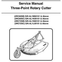 Bobcat Three-Point Rotary Cutter Service Manual - 6989549 (2-10)