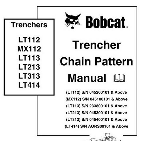 Bobcat Trencher Chain Pattern Service Manual - 6903853 (4-06)