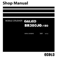 Komatsu BR380JG-1E0 Galeo Mobile Crusher Shop Manual (2001 and up) - SEN01341-03
