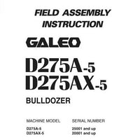 Komatsu D275A-5, D275AX-5 Galeo Bulldozer Field Assembly Instruction - GEN00047-00