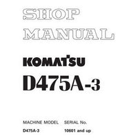 Komatsu D475A-3 Bulldozer (10601 and up) Shop Manual - SEBM017208