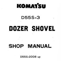 Komatsu D55S-3 Dozer Shovel (2008 and up) Shop Manual - D55S.3-BE2