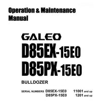 Komatsu D85EX-15E0, D85PX-15E0 Galeo Bulldozer Operation & Maintenance Manual - TEN00102-01