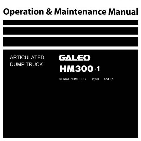 Komatsu HM300-1 Articulated Dump Truck Operation & Maintenance Manual (1260 and up) - TEN00044-03