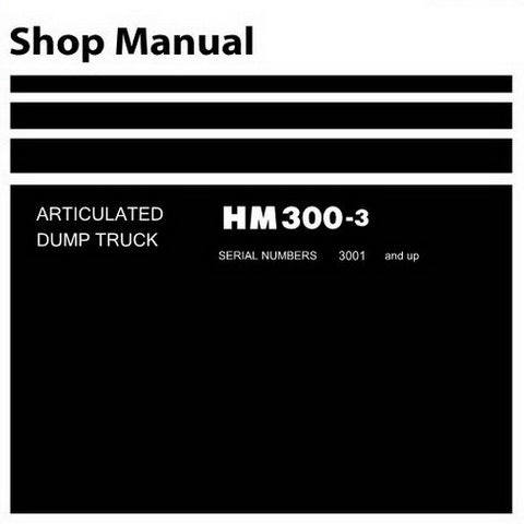 Komatsu HM300-3 Dump Truck Shop Manual (3001 and up) - SEN05629-01