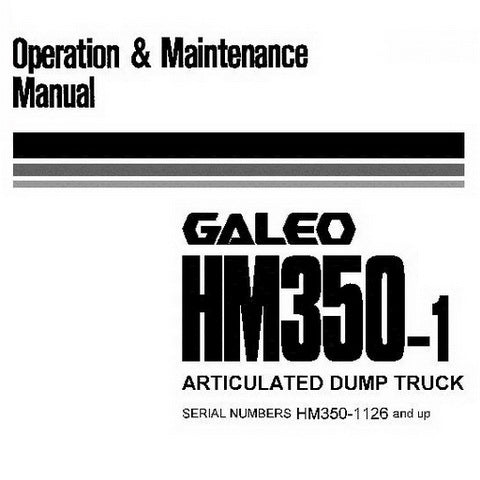 Komatsu HM350-1 Dump Truck Operation & Maintenance Manual (1126 and up) - PEN00045-01