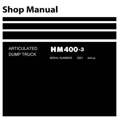 Komatsu HM400-3 Dump Truck Shop Manual (3001 and up) - SEN05632-06
