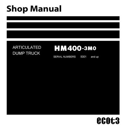 Komatsu HM400-3MO Dump Truck Shop Manual (5001 and up) - SEN06284-03