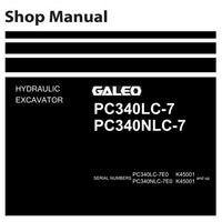Komatsu PC340LC-7, PC340NLC-7 Hydraulic Excavator Shop Manual (K45001 and up) - UEN00262-00