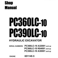 Komatsu PC360LC-10, PC390LC-10 Hydraulic Excavator Shop Manual - CEBM025204