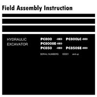Komatsu PC800-8E0, PC800LC-8E0, PC800SE-8E0, PC850-8E0, PC850SE-8E0 Hydraulic Excavator Field Assembly Instruction - GEN00102-02