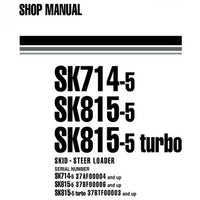 Komatsu SK714-5, SK815-5, SK815-5 turbo Skid-Steer Loader Shop Manual - WEBM005600
