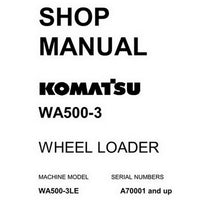 Komatsu WA500-3 Wheel Loader Shop Manual (A70001-up) - CEBM001202