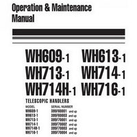 Komatsu WH609-WH716-1 Telescopic Handlers Operation & Maintenance Manual - WEAM005900