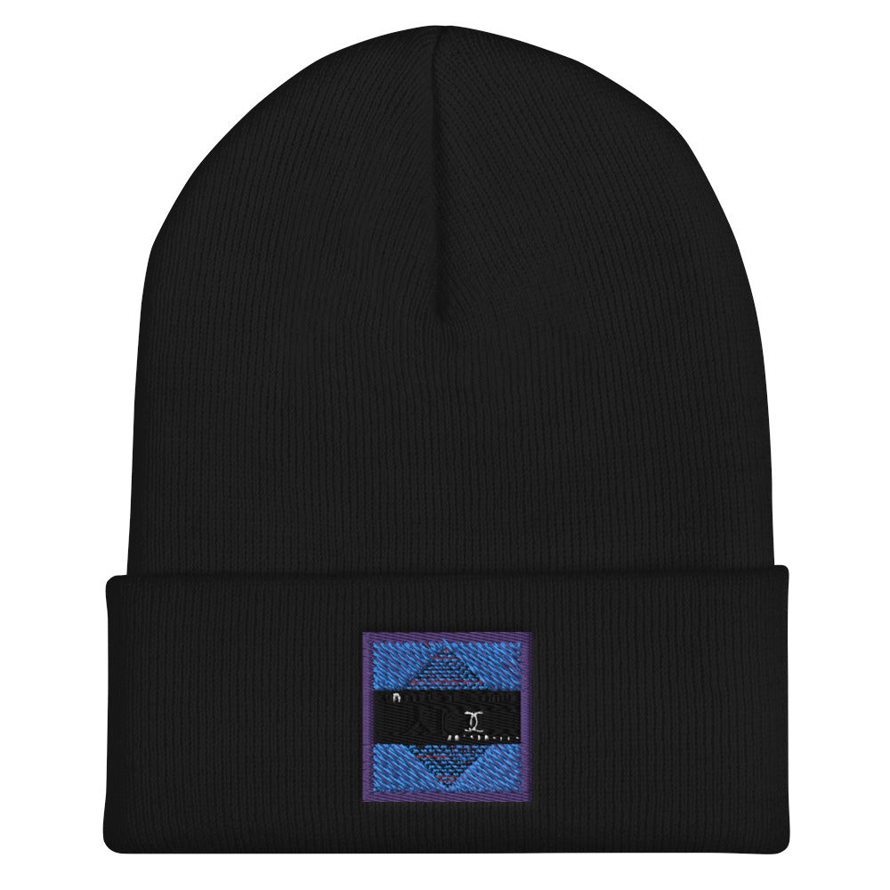 Embroidered Cuffed Beanie