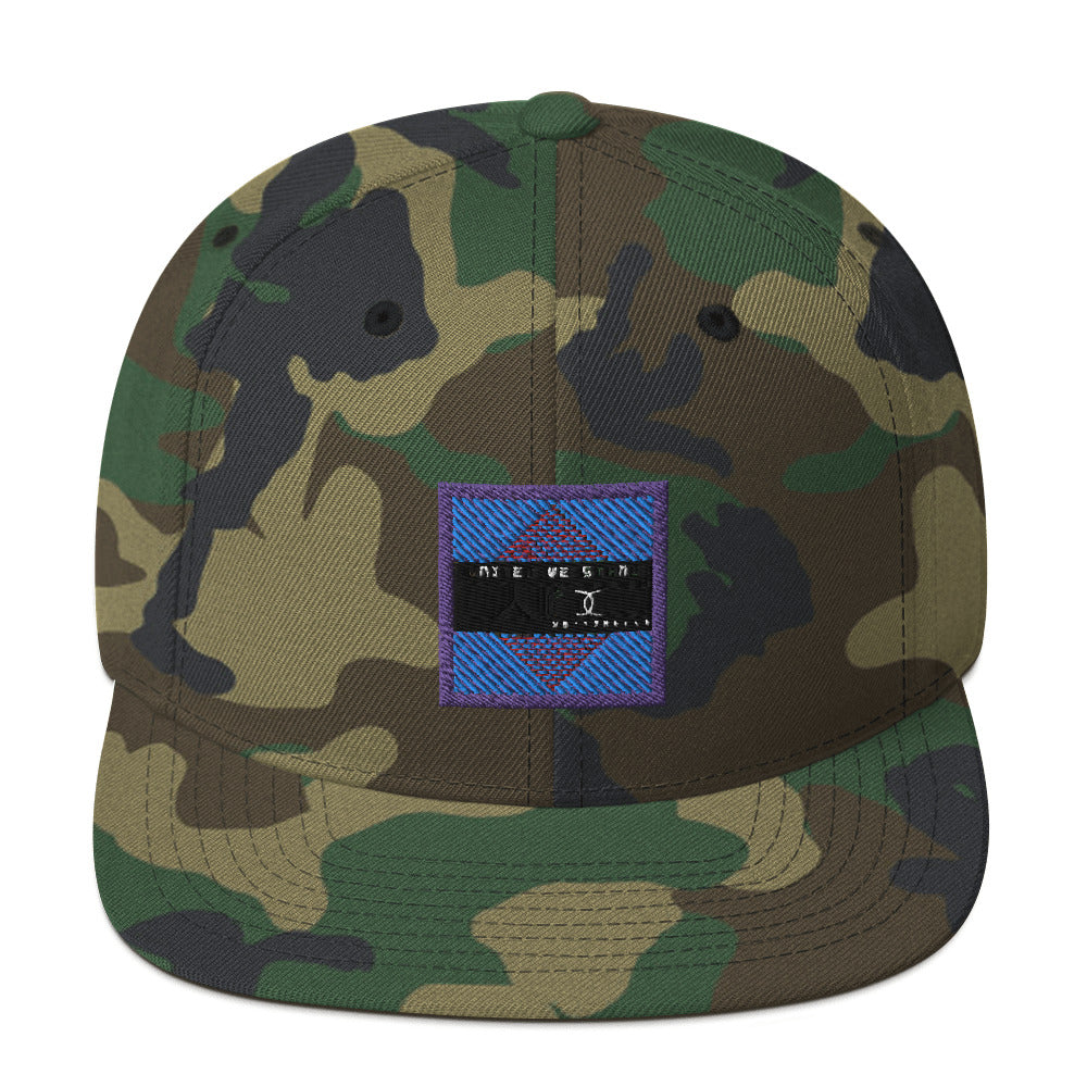 Embroidered Snapback Hat