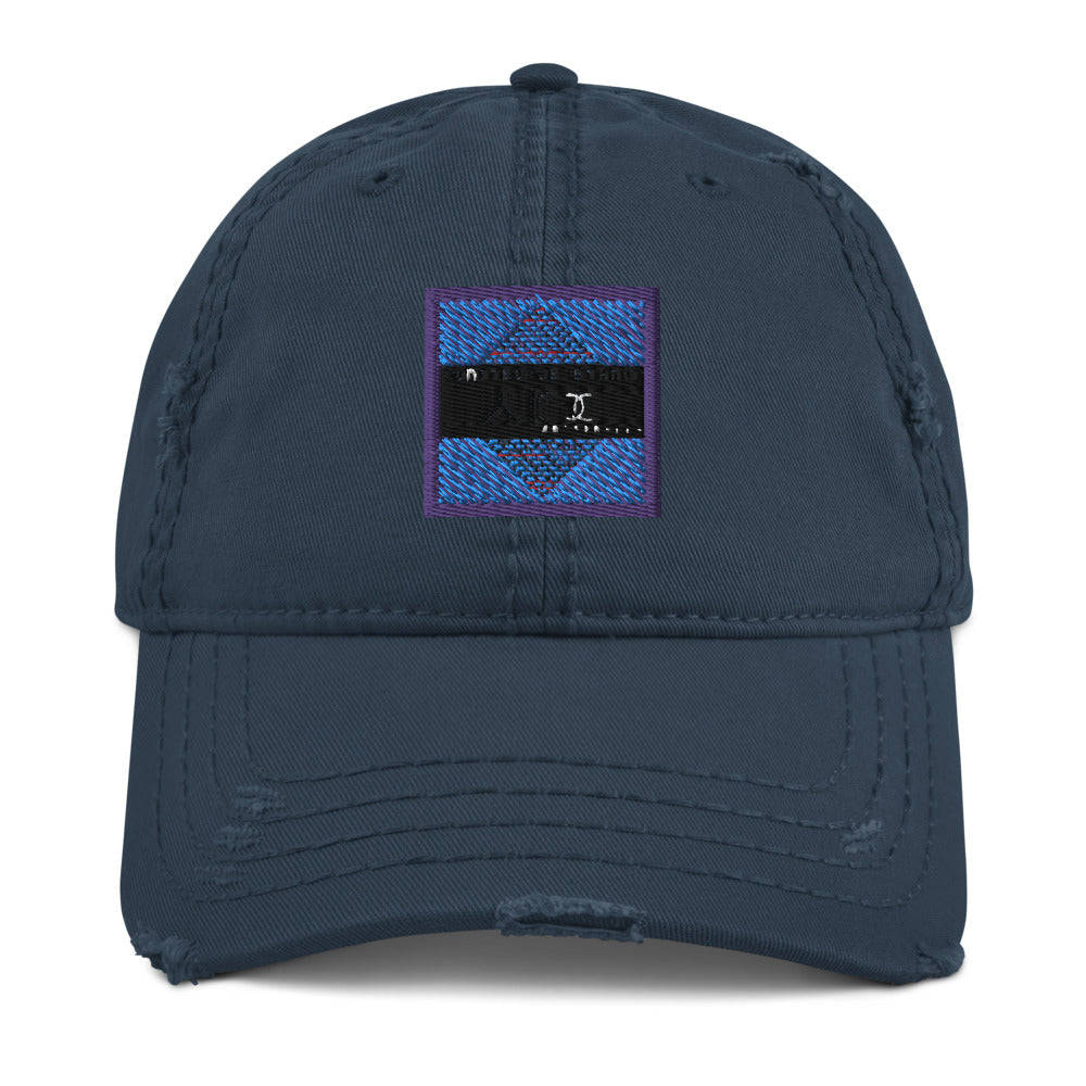Embroidered Distressed Dad Hat