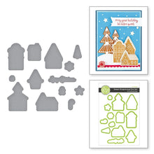 Load image into Gallery viewer, Spellbinders Sweet Gingerbread Stamp and Die Set SS-0700, DI0-0556 811305036454,811305036577