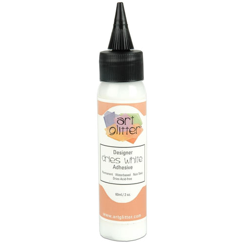 Art Institute Glitter Designer Dries White Adhesive 2oz 762048100103