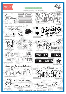 "The Stamping Village Stamp Set ""Thinking of You"" TSV0420 736952867629"