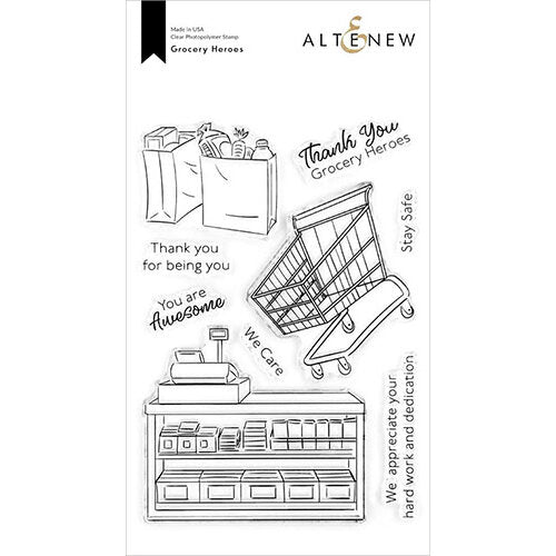 Altenew Grocery Heroes Stamp Set ALE4298 737787266991