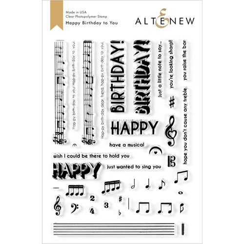 Altenew Stamp Happy Birthday to You 737787260944