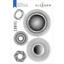 Load image into Gallery viewer, Altenew Spheres & Spirals Stamp & Die Bundle 737787261040 &737787261057