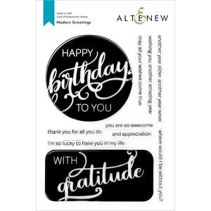 "Altenew Stamp ""Modern Greetings"" ALT4830 765453000402"