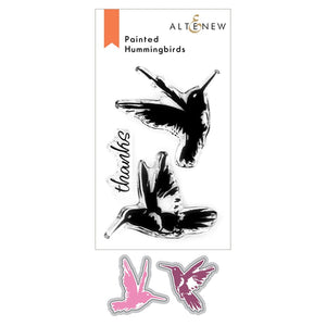 "Altenew Stamp & Die ""Painted Hummingbirds"" ALT4836, ALT4837 765453000464, 765453000471"
