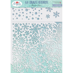 "Angela Poole A4 Craft Stencil ""Frozen Lace"" APFLST06 5060689440455"