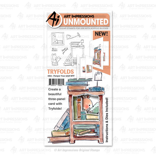 Art Impressions Clear Stamps & Dies #4853 Pamper Your-Shelf MTF 750810792625