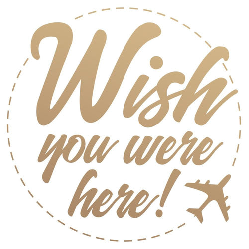 Couture Creations New Adventures Mini Stamp-Wish you were here! CO727788 9332839074336