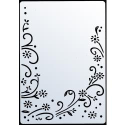 "Crafts-Too Embossing Folder 4""X 6"" - Daisy Flourish #CTFD3042  5060181412738"