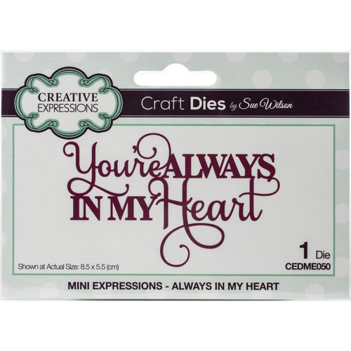 Creative Expressions Borderline Craft Dies By Sue Wilson Mini Expressions- CEDME050 Always in My Heart 5055305954058