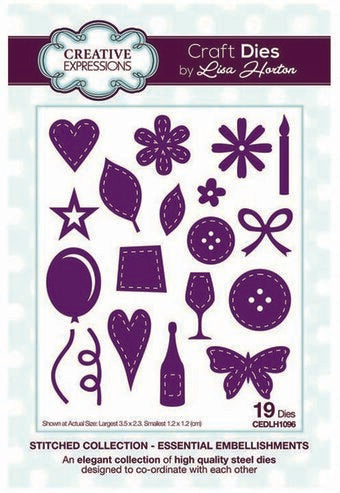 Creative Expressions Die by Lisa Horton - Stitched Collection - CEDLH1096 Essential Embellishments 5055305953464