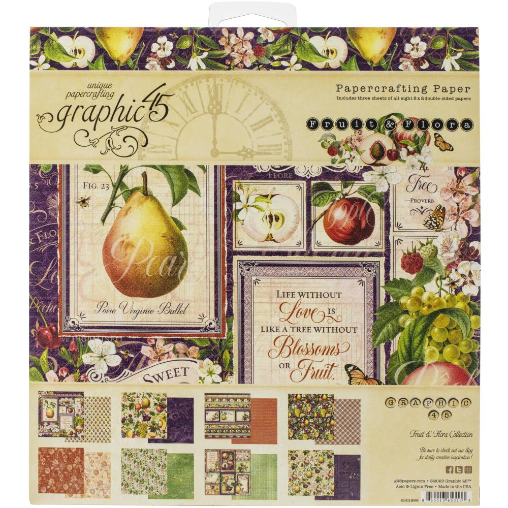 Graphic 45 Fruit & Flora Double-Sided Paper Pad 8