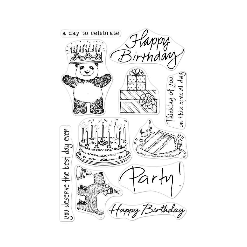 Hero Arts CM360 From the Vault Birthday Stamp 085700921831