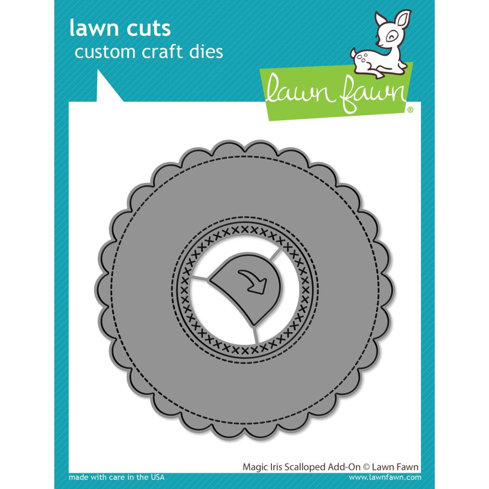 Lawn Cuts Custom Craft Die-Magic Iris Scalloped Add-On #LF2240  035292674790