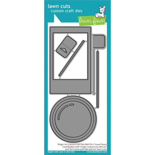 Lawn Fawn Die - Magic Iris Camera Pull-Tab Add-On LF2345 035292675728