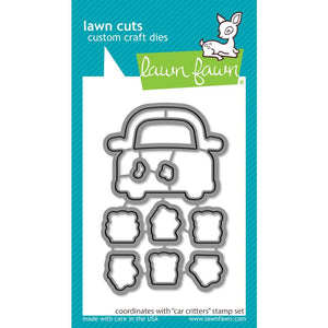 Lawn Fawn Clear Stamps and Dies Car Critters LF2338 & LF2339 035292675650, 035292675667