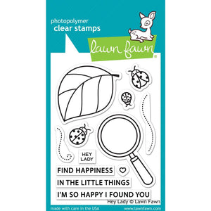 "Lawn Fawn Clear Stamps Hey Lady 3""X4"" LF2223 035292674639"