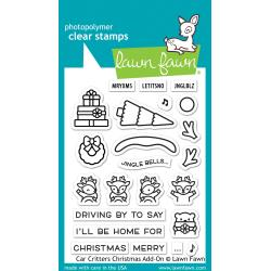 Lawn Fawn Car Critters Chrsitmas Add-On Stamps and Dies Set LF2423; lf2424 035292676398, 035292676404
