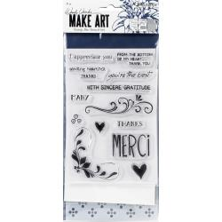 Wendy Vecchi Make Art Stamp, Die & Stencil Set Merci & More WVZ71129 789541071129