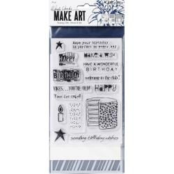 Wendy Vecchi Make Art Stamp, Die & Stencil Set Birthday Bash WVZ71112 789541071112