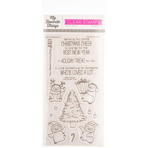 My Favorite Things Stamps and dies set Holiday Penguins BB-113 & MFT-1841 849923037098, 849923037232