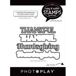 PhotoPlay Say It With Stamps Die Set Thankful SIS2347 709388323472