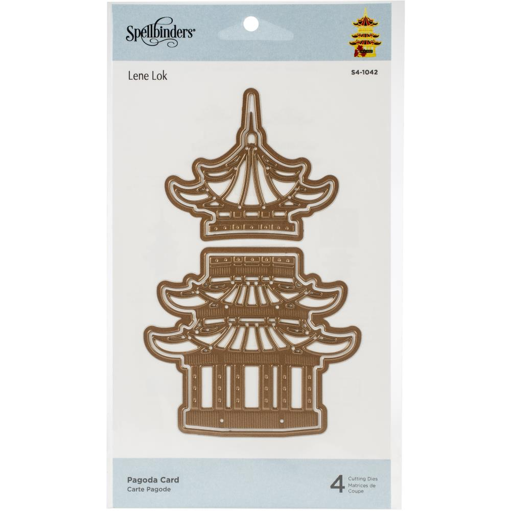 Spellbinders Destination Japan Etched Die-Pagoda Card #S41042  813233046000