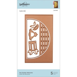 Spellbinders Destination Japan Etched Die-Zen Garden Welcome #S41040  813233045980