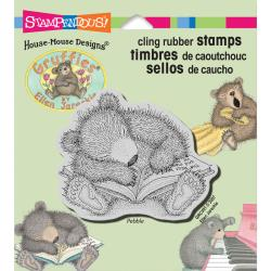 Stampendous House Mouse Cling Stamp-Sleepy Reader #HGRCV01  744019204973